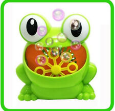 Soap Automatic Bubble Machine Green Frog Cute Kids Toy Funny Game Animal Baby
