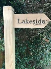 SOLID OAK ENGRAVED DIRECTIONAL SIGN ADD TO YOUR EXSISTING POST