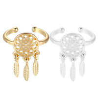Women's Dreamcatcher Ring Feather Charm Pendant Dream Catcher Wish Ring Vintage