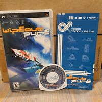 Wipeout Pure PSP Sony Complete CIB Racing Video Game 2005