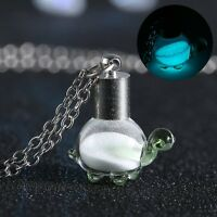 HOT Fairy Sea Turtle Glass Pendant Sand Glow In The Dark Luminous Necklace New