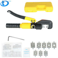 5 Ton Hydraulic Wire Battery Cable Lug Terminal Crimper Crimping Tool With 9 Dies