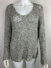 Eileen Fisher Pullover Sweater Loose Knit Gray Size Large