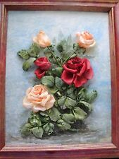 Silk ribbon embroidery 'Beautiful roses'