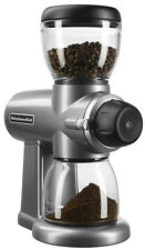 KitchenAid Coffee BURR GRINDER, 15 Grind Settings COFFEE GRINDER, Contour Silver