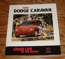 Original 2003 Dodge Caravan Sales Brochure 03