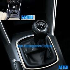 PM Matte Chrome Interior Gear Shift Knob Boot Frame Trims for Mazda CX-5 2014