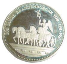 A411) Medaille 200 JAHRE BRANDENBURGER TOR 1791 1991 EINIGKEIT RECHT FREIHEIT