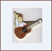 Pin's Pins lapel pin Elvis Presley Guitare marron
