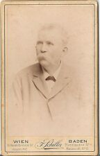 CDV photo Herrenportrait - Wien Baden 1890er