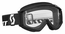 SCOTT USA RECOIL ADULT GOGGLE BLACK MOTOCROSS MX ATV UTV CLEAR LENS