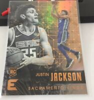 Justin Jackson Rookie Card #121 Kings Panini Essentials 2017-18 Gold
