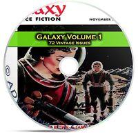 Galaxy, Vol 1, 72 Classic Pulp Magazine, Golden Age Science Fiction DVD CD C55