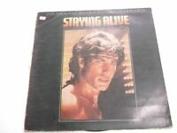 THE BEE GEES STAYING ALIVE motion picture GATEFOLD RARE LP record vinyl INDIA G+