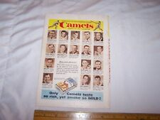Vintage CAMEL Cigarettes Advertisement - Ameica's Top Baseball Players