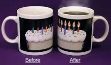 Magic candle lights Heat changing sensitive Birthday cake gift coffee Mug