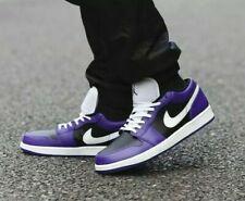 Nike Air Jordan 1 Low Court Purple / Black - Size 10.5