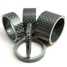 """5 x Fahrrad 1-1/8"""" 3/5/10/15/20mm Lenker Carbon Fiber Gloss Spacer Sa"""