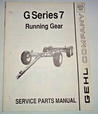 Gehl G607/807/1007/1057/1207 Wagon Running Gear Parts Manual Catalog 9/89