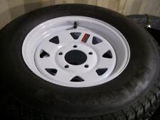 "(2) QTY  14"" Tire and Rim  205/75D14 Load Range C White Spoke 5.45"