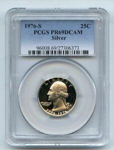 1976 S 25C Silver Washington Quarter Proof PCGS PR69DCAM