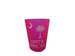 State of South Carolina Palmetto And Pink Shot Glass Drinking Glass