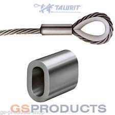 2.5mm Aluminium Ferrule Steel Wire Rope Crimping Sleeve Clamp TALURIT