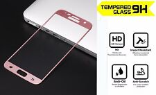 100% Genuine 3D Tempered Glass Rose Gold Screen Protector for Samsung Galaxy S7
