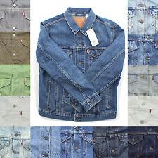 Levi's Mens Denim Cotton Button Down Vintage Trucker Distress Jean Jacket XS-5XL