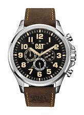 Mens Caterpillar Operator CAT PU14935114 Brown Leather Black Dial Date Watch