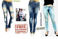 Lucky Brand  Jeans Jack David Womens Juniors PLUS Distressed Denim pants