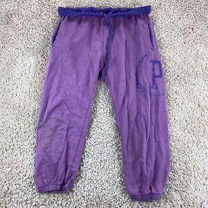 PINK victoria's secret womens small purple sweatpants drawstring waist