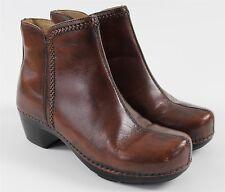 Dansko 42 Scout Ankle Side Zip Brown Leather Boots WOMENS 11.5 Rocker Heel