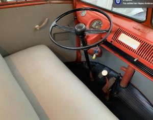 Grey ABS Door Card/Panels VW Splitscreen Leather Grain + Map Pockets + Fixings