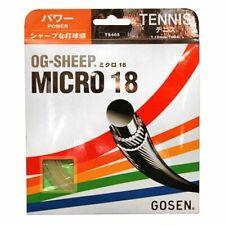 Gosen OG-Sheep Micro Tennis Strings 18g 1.15mm (   Black | White | Natural )