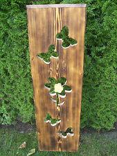 Deko-Holzbrett mit Eisenstäben, massiv Fichte, Handarbeit, freistehend ca. 100cm
