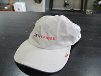 VINTAGE Tommy Hilfiger Leather Strap Back Hat Cap Brown Flag Sport Dad Hat 90s