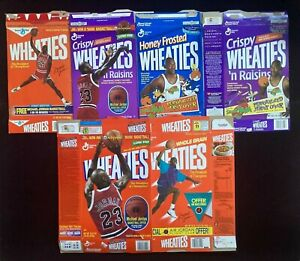 Michael Jordan lot of 6 different Wheaties boxes: 1988 First Edition, Space Jam+