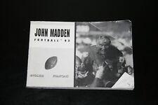 JOHN MADDEN FOOTBALL 93 BOOKTLET NOTICE JEU SEGA MEGADRIVE