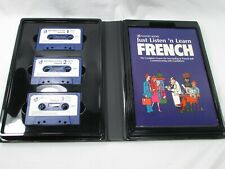 Just Listen 'n Learn FRENCH Book And Three 60-Minute Cassettes Like New