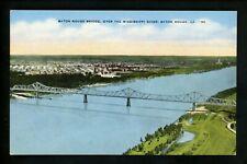 Bridge postcard Louisiana LA, Baton Rouge Bridge linen Kropp