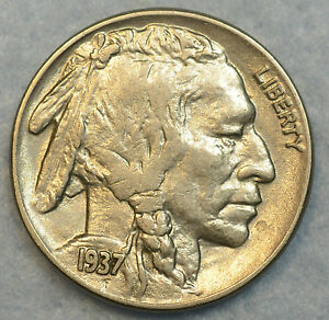 1937 Buffalo Nickel UNC details Great condition Full Horn Great Luster 142