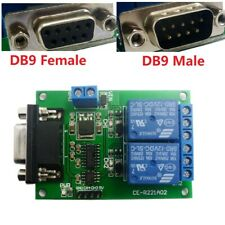 DC 12V DB9 Female/Male RS232 UART Switch Board  COM Serial port Relay Module PLC