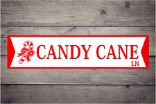 Candy Cane Lane  ALUMINUM STREET SIGN Free shipping Christmas Decor