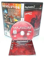 RED FACTION JOIN THE REVOLUTION - Playstation 2 Ps2 Play Station Gioco Game