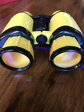 Toy Binoculars - Yellow With Red Hard Plastic Carrying Case