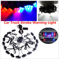 32 LED Car SUV Strobe Flashing Lights Bar Dash Grille Emergency Decoration Lamps