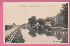 59 - CREVECOEUR SUR L'ESCAUT - Le Canal - Pont et Ecluse ( Péniches)