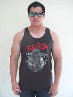 SKID ROW BIG GUNS Metal Rock Men's T-Shirt Tank Top Vest Graphic Tee Dark Gray