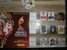 PANINI EURO 2017 em 17 women SET COMPLETO COMPLETE SET * Empty album